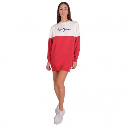 PL952987-274/WINTER RED PEPE JEANS E1 BLANCHE ΓΥΝΑΙΚΕΙΟ ΦΟΡΕΜΑ ΚΟΚΚΙΝΟ