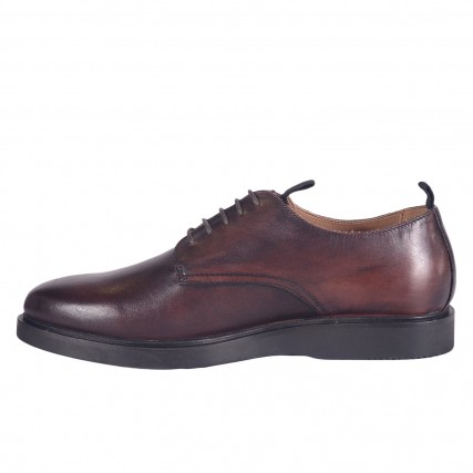 IN01200-20 HUDSON BARNSTABLE LEATHER BROWN SHOES ΑΝΔΡΙΚΑ ΠΑΠΟΥΤΣΙΑ ΚΑΦΕ