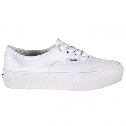 VN0A3AV8W001 VANS UA Authentic Platfor True W SNEAKERS ΛΕΥΚΑ