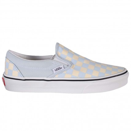 VN0A33TB42Y1 VANS UA Classic Slip-On CHECKER SNEAKERS ΣΙΕΛ