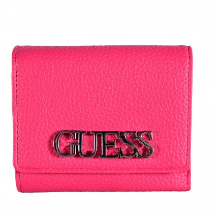 SWVY7301430-FUC GUESS UPTOWN CHIC SLG SMALL TRIFOLD ΓΥΝΑΙΚΕΙΟ ΠΟΡΤΟΦΟΛΙ ΦΟΥΞΙΑ