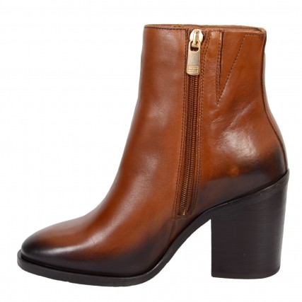 FW0FW05164-GOW TOMMY HILFIGER SHADED LEATHER HIGH HEEL BOOT ΓΥΝΑΙΚΕΙΟ ΜΠΟΤΑΚΙ ΤΑΜΠΑ