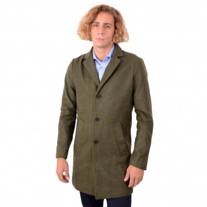 21104353 SOLID 6209615 RERUN JACKET SDFAYETTE FAUXWOOL ΑΝΔΡΙΚΟ ΠΑΛΤΟ ΚΥΠΑΡΙΣΙ