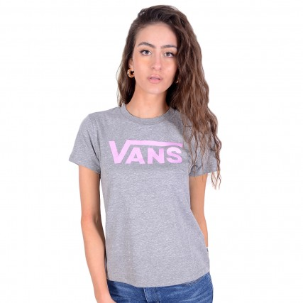 VN0A3UP4ZFD1 VANS WM FLYING V CREW TEE CEMENT HEAT ΓΥΝΑΙΚΕΙΑ ΜΠΛΟΥΖΑ ΓΚΡΙ