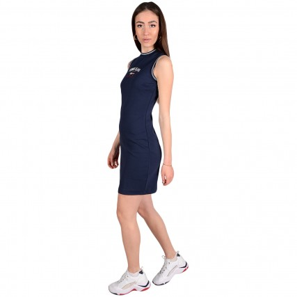 DW0DW09936-C87 TOMMY HILFIGER TJW TIMELESS SCRIPT DRESS ΓΥΝΑΙΚΕΙΟ ΦΟΡΕΜΑ ΜΠΛΕ