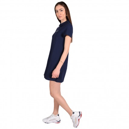 DW0DW10116-C87 TOMMY HILFIGER TJW ESSENTIAL POLO DRESS ΓΥΝΑΙΚΕΙΟ ΦΟΡΕΜΑ ΜΠΛΕ