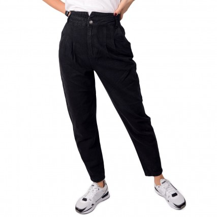 20808845-200465 BYOUNG MA 2020 BYKATO BYLORAX JEANS ΓΥΝΑΙΚΕΙΟ ΠΑΝΤΕΛΟΝΙ ΤΖΙΝ ΜΑΥΡΟ