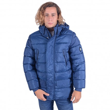 PM402451-571/SCOUT BLUE PEPE JEANS E1 HINDLEY ΑΝΔΡΙΚΟ ΜΠΟΥΦΑΝ ΜΠΛΕ