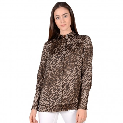 W0BH05W3TO2 GUESS LS VIVIAN SHIRT - RECYCLED SUEDED POLY  ΓΥΝΑΙΚΕΙΟ ΠΟΥΚΑΜΙΣΟ ΛΕΟΠΑΡ