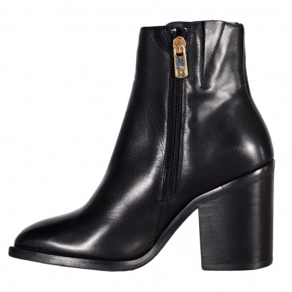 FW0FW05164-BDS TOMMY HILFIGER SHADED LEATHER HIGH HEEL BOOT ΓΥΝΑΙΚΕΙΟ ΜΠΟΤΑΚΙ ΜΑΥΡΟ