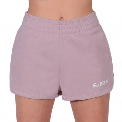 O1GA51FL03N-G4Q9 GUESS ACTIVEWR SHORTS - COZY LIGHT TERRY FLEECE ΓΥΝΑΙΚΕΙΟ ΣΟΡΤΣ NUDE