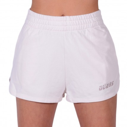 O1GA51FL03N-G64Z GUESS ACTIVEWR SHORTS - COZY LIGHT TERRY FLEECE ΓΥΝΑΙΚΕΙΟ ΣΟΡΤΣ ΜΠΕΖ
