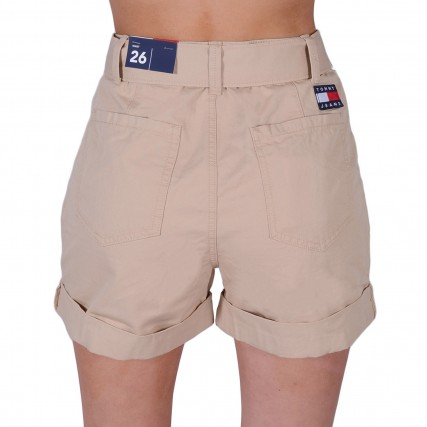 DW0DW09746-AB1 TOMMY HILFIGER TJW MOM BELTED SHORT ΓΥΝΑΙΚΕΙΟ ΣΟΡΤΣΑΚΙ ΡΟΖ