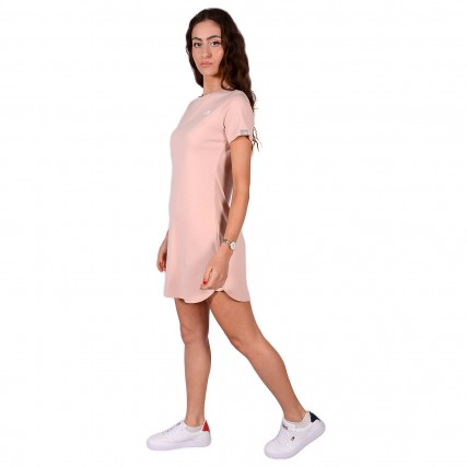 NF0A493TUBF1 THE NORTH FACE W SIMPLE DM DRESS EVENNG ΓΥΝΑΙΚΕΙΟ ΦΟΡΕΜΑ ΡΟΖ