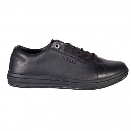 FM0FM02992-BDS TOMMY HILFIGER MODERN CLEAN  LEATHER CUPSOLE ΑΝΔΡΙΚΟ ΠΑΠΟΥΤΣΙ ΜΑΥΡΟ