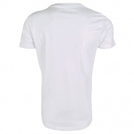 1021893-20000 TOM TAILOR 2ND 102 T-SHIRT WITH PRINT ΜΠΛΟΥΖΑ ΑΝΔΡΙΚΟ ΛΕΥΚΟ