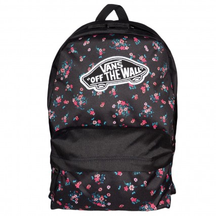 VN0A3UI6ZX31 VANS REALM CLASSIC BACKPACK ΤΣΑΝΤΑ ΜΑΥΡΟ FLORAL