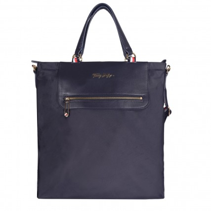 AW0AW10217-0GY TOMMY HILFIGER TOMMY FRESH TOTE CORP ΓΥΝΑΙΚΕΙΑ ΤΣΑΝΤΑ ΜΠΛΕ