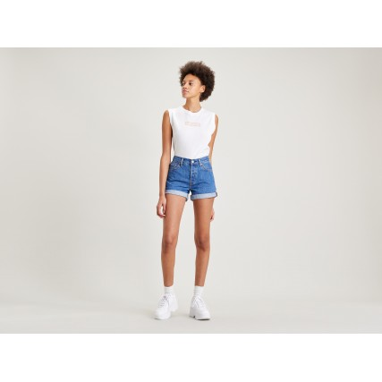 29961-0021 LEVIS 501 ROLLED SHORT SANSOME RANSO ΓΥΝΑΙΚΕΙΟ ΣΟΡΤΣ ΤΖΙΝ
