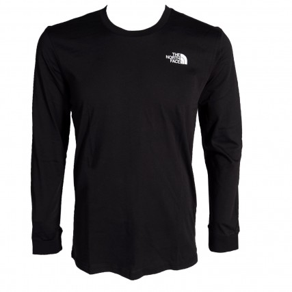 NF0A3L3BJK31 THE NORTH FACE M LS SIMPLE DOME TEE ΑΝΔΡΙΚΗ ΜΠΛΟΥΖΑ ΜΑΥΡΗ