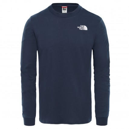 NF0A3L3BH2G1 THE NORTH FACE M LS SIMPLE DOME TEE URBAN NAVY ΑΝΔΡΙΚΗ ΜΠΛΟΥΖΑ ΜΠΛΕ
