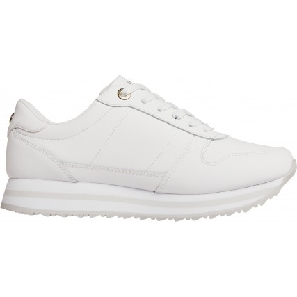 FW0FW05218-YBR TOMMY HILFIGER TH SIGNATURE RUNNER SNEAKER ΓΥΝΑΙΚΕΙΑ SNEAKERS ΛΕΥΚΑ