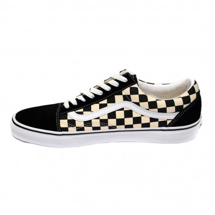 VN0A38G1P0S1 VANS OLD SKOOL PRIMARY CHECK BLK/WHITE SNEAKERS ΑΣΠΡΟ-ΜΑΥΡΟ