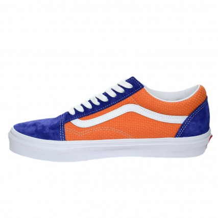 VN0A4U3BWTJ1 VANS UA Old Skool (P&C) royal blue/apricot buff ΑΝΔΡΙΚΟ SNEAKER ΜΠΛΕ-ΠΟΡΤΟΚΑΛΙ