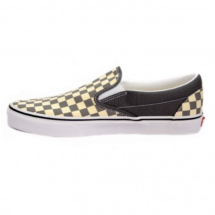 VN0A4BV3TB51 VANS UA Classic Slip-On (CHECKERBOARD)PEWTERTRWHT ΑΝΔΡΙΚΟ SNEAKER ΓΚΡΙ-ΛΕΥΚΟ