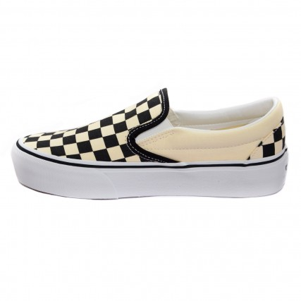 VN00018EBWW1 VANS UA Classic Slip-On Platform black and white checker/white ΓΥΝΑΙΚΕΙΟ SNEAKER ΑΣΠΡΟ-ΜΑΥΡΟ