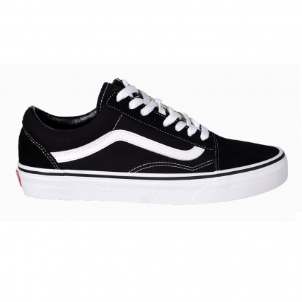 VN000D3HY281 VANS OLD SKOOL BLACK/WHITE SNEAKER ΜΑΥΡΟ