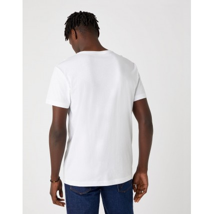 W7G7D3XW1 WRANGLER SS PHOTO W TEE REAL WHITE ΑΝΔΡΙΚΗ ΜΠΛΟΥΖΑ ΛΕΥΚΟ